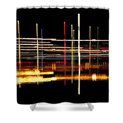 Cosmic Avenues Shower Curtain