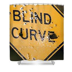 Blind Curve Shower Curtain