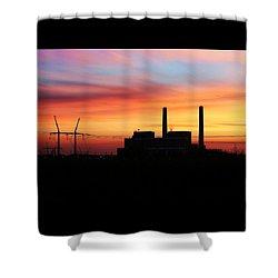 A Gentleman Sunrise Shower Curtain
