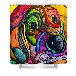 Hound Dog Shower Curtain by Eloise Schneider