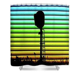 Signal At Dusk Shower Curtain
