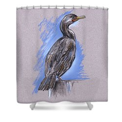 Cormorant Shower Curtain by MM Anderson