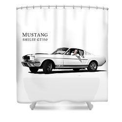 Mustang Shelby Gt 350 Shower Curtain by Mark Rogan