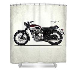 Triumph Bonneville 1968 Shower Curtain by Mark Rogan