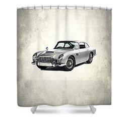 Aston Martin Db5 Shower Curtain by Mark Rogan