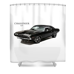 Dodge Challenger Rt Shower Curtain by Mark Rogan