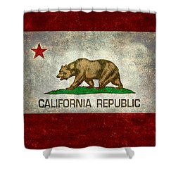 California Republic State Flag Retro Style Shower Curtain