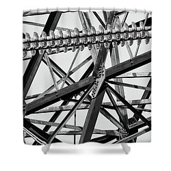 What's Your Angle Shower Curtain by Bill Kesler