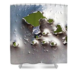 Dimpled And Ripped Shower Curtain