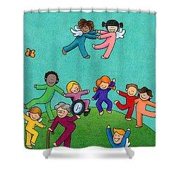 Jubilation Shower Curtain by Sarah Batalka