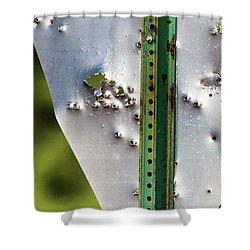 Bullet Hole Yield Shower Curtain
