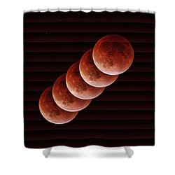 Just A Minute - The Slat Collection Shower Curtain