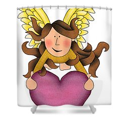 From The Heart Shower Curtain by Sarah Batalka