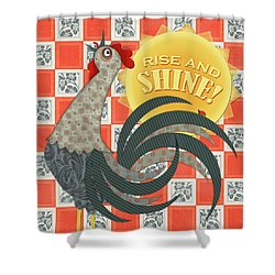 Good Morning Rooster Shower Curtain