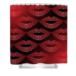 Tribal Lips Shower Curtain