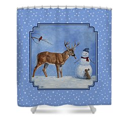 Whose Carrot Seasons Greeting Shower Curtain by Crista Forest