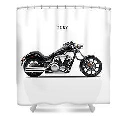 Honda Fury Shower Curtain by Mark Rogan