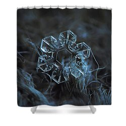 Shower Curtain featuring the photograph Snowflake Photo - The Core by Alexey Kljatov