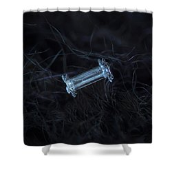 Shower Curtain featuring the photograph Snowflake Photo - Capped Column by Alexey Kljatov