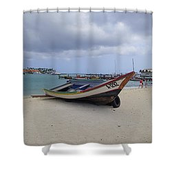 Aruba Beach Shower Curtain by Lois Lepisto