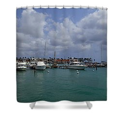 Aruba Marina Shower Curtain by Lois Lepisto