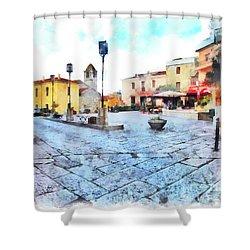 Arzachena Risorgimento Square Shower Curtain