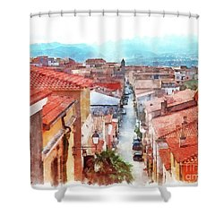 Arzachena View Of The Corso Garibaldi Shower Curtain