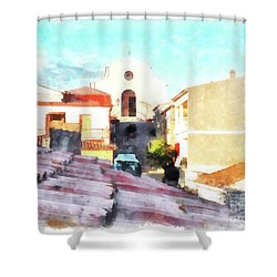 Arzachenaroof And Church Shower Curtain