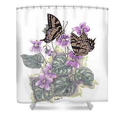 As Close To The Flowers Shower Curtain by Stanza Widen