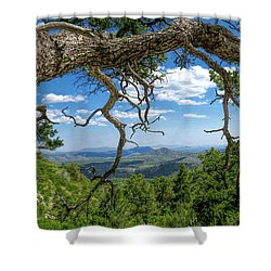 'as Far As The Eye Can See' Shower Curtain by Charles Ables