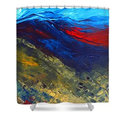 As Far As The Eye Can See Shower Curtain by Elizabeth Kendall