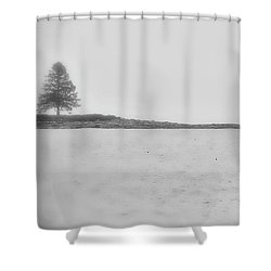 As I Look Out To Sea Shower Curtain