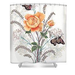 As I Ride The Butterfly Shower Curtain by Stanza Widen