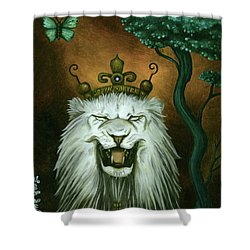 As The Lion Laughs Shower Curtain by Leah Saulnier The Painting Maniac
