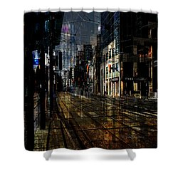 As The Sun Goes Down Shower Curtain by Nicky Jameson