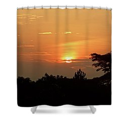 As The Sun Sets ... Orange Shower Curtain