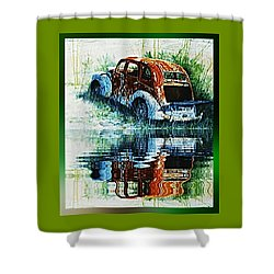 As Time Goes By. . . Shower Curtain