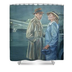 As Time Goes By Shower Curtain by Bryan Bustard