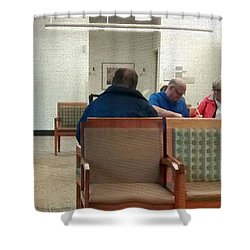 As Time Goes By.... Shower Curtain by Kathie Chicoine