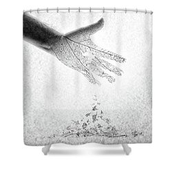 Shower Curtain featuring the photograph As You Once Were, So You Will Soon Be by Mark Fuller
