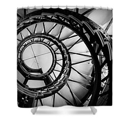 Ascend - Black And White Shower Curtain