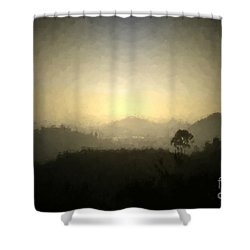Ascend The Hill Of The Lord - Digital Paint Effect Shower Curtain