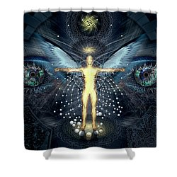 Ascension And Rebirth Shower Curtain by Alex Polanco