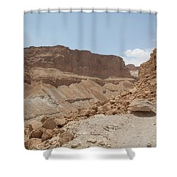 Shower Curtain featuring the photograph Ascension To Masada - Judean Desert, Israel by Yoel Koskas