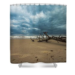 Ashdod Seascape Shower Curtain