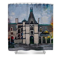 Asheville Castle In The Mountains  Shower Curtain