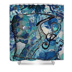 Ashley - Let The Music Play Supporter Shower Curtain