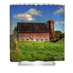 Ashtabula County Barn Shower Curtain by Tony  Bazidlo