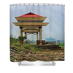 Asian Architecture I Shower Curtain