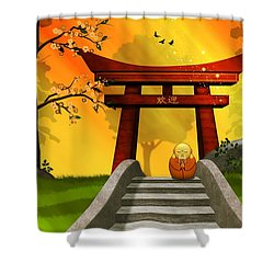 Asian Art Chinese Spring Shower Curtain by John Wills